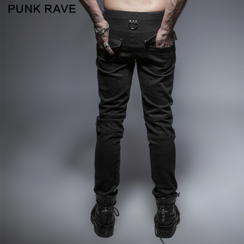 PUNK RAVE Armor Knee Man Washing Jeans K-239