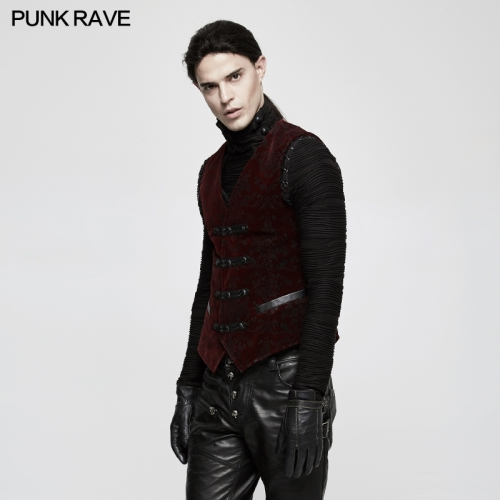PUNK RAVE Europe royal double-breasted  men waistcoats Y-813