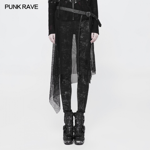 PUNK RAVE Individual women mesh Net Belt WS-264