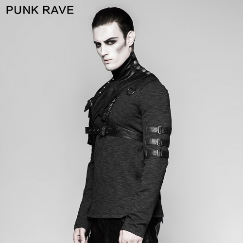 PUNK RAVE Steampunk  Close-Fitting Male Shoulder Armor S-207