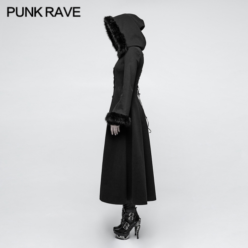 Punk Rave Gothic Winter Long Women's Coat Y-796