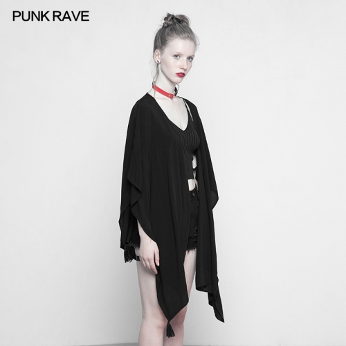 PUNK RAVE Black Multi-use  Suntan-proof wear Shawl OPY-316DPF