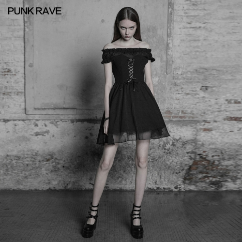 Punk Rave Off Shoulder Lolita Bandage Dress OPQ-338