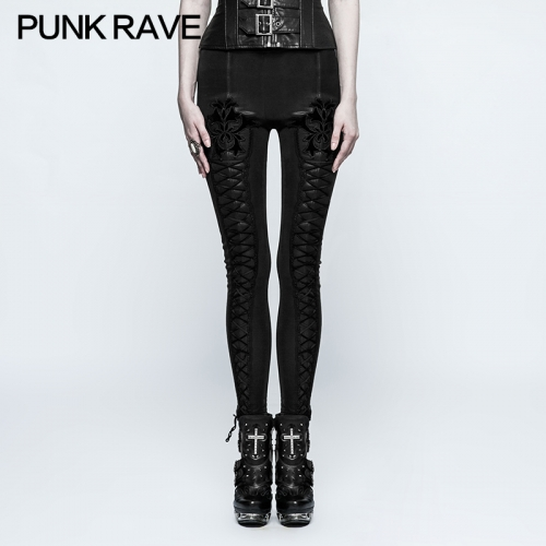 PUNK RAVE Gorgeous Thick Slim Leggings K-305