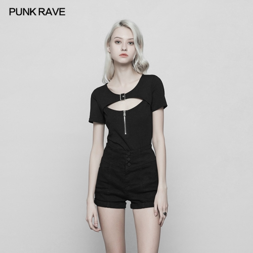 PUNK RAVE  Tight Handsome Girl T-shirt OPT-250
