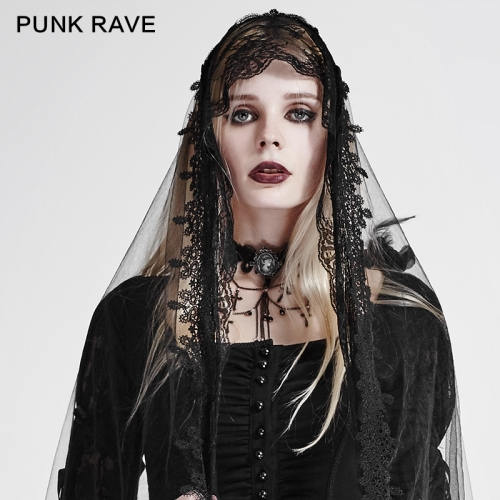 PUNK RAVE Gothic Girl Cross Necklace S-187