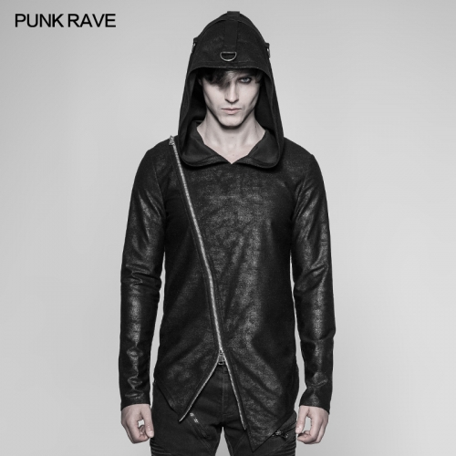 PUNK RAVE Punk Cool Black Pullovers Hoodie OT-532