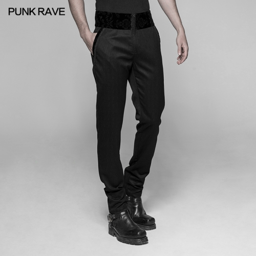 PUNK RAVE Gothic Dark Stripes Trousers WK-333