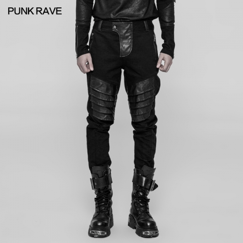 PUNK RAVE Punk Armor Man Trousers   WK-337
