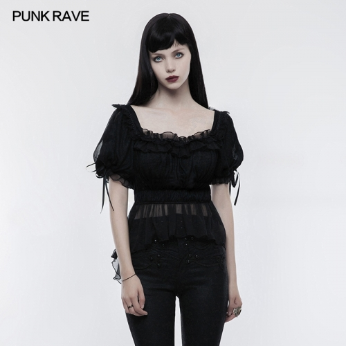 PUNK RAVE lolita thin knitted T-shirt WLT-011