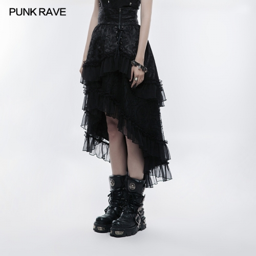 PUNK RAVE Lolita Double-layer High Waist Skirt WLQ-083