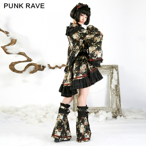 Punk Rave Lolita Fashion  Pretty Kimono Dress Q-114