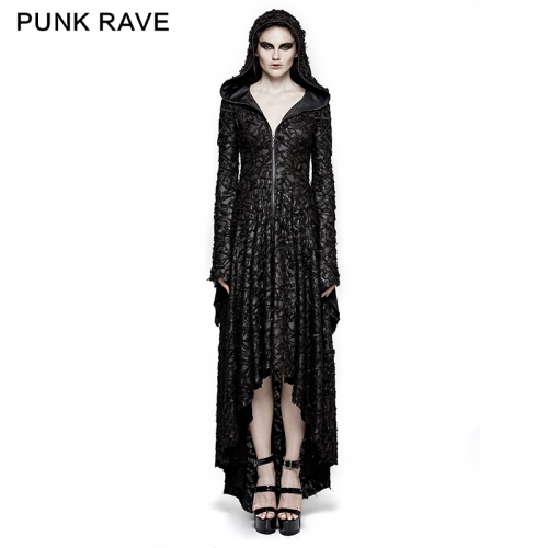 Punk Rave Knitted Christmas Hooded Dress Q-308