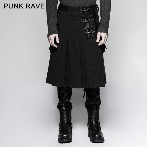 Punk Rave scottish kilts mens middle skirts Q-319