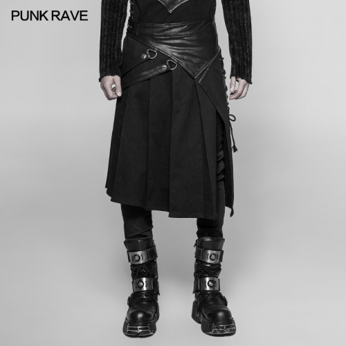 PUNK RAVE  Punk Man Half Skirts WQ-372