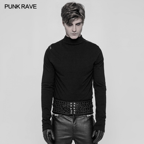 PUNK RAVE Gothic man embroidered girdle WS-279