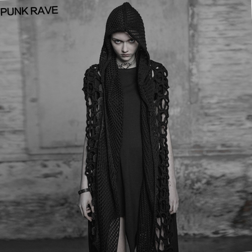 PUNK RAVE  Gothic dark female scarf WS-267