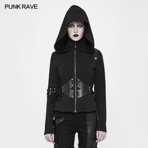 PUNK RAVE  hoodie Short Cardigan Sweater WY-903