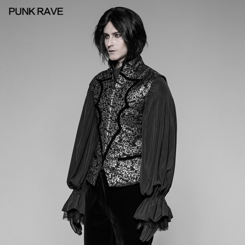 PUNK RAVE  Gothic Bat Collar Man Vest  WY-923