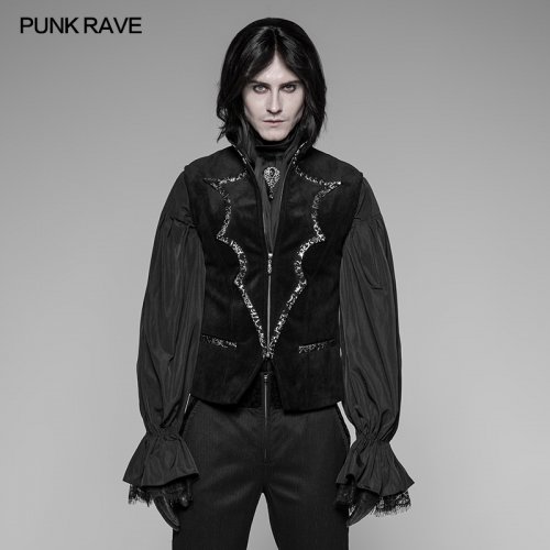 Punk RAVE Gothic Bat Collar Dress Vest WY-948