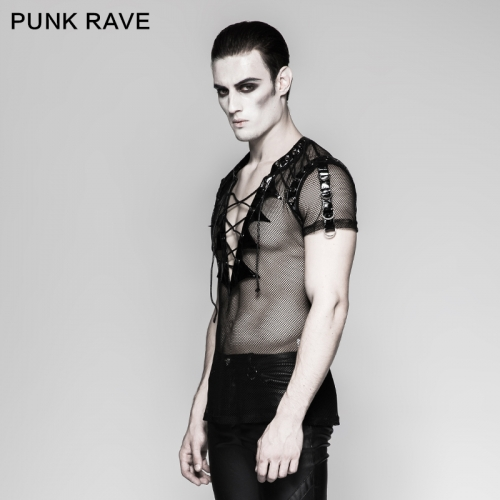 PUNK RAVE  Gothic short sleeves men T-shirts T-468