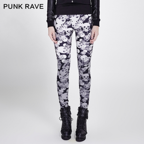 PUNK RAVE Gothic Elastic Women Pants K-259