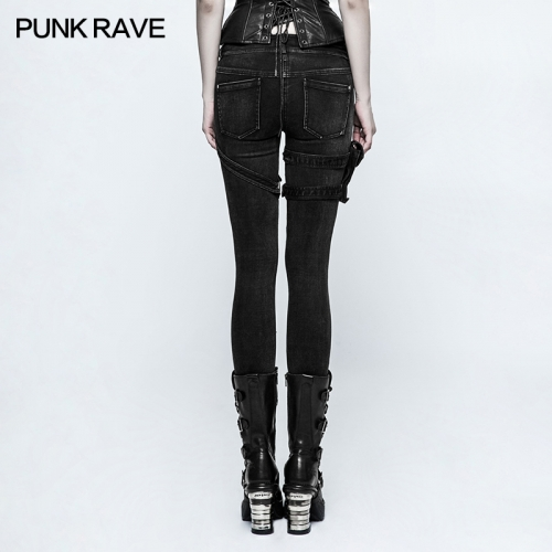 PUNK RAVE lady skinny jeans pants K-295