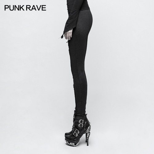 PUNK RAVE Gothic Slim Long Leggings K-291