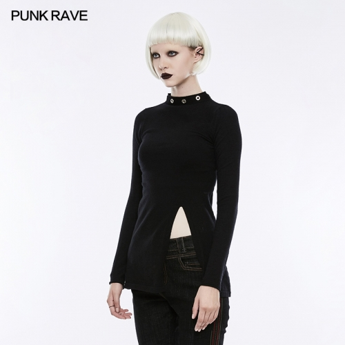 PUNK RAVE stand collar women wool sweater OPM-068