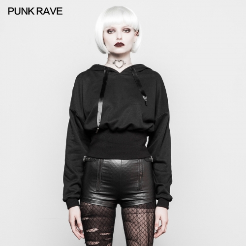 PUNK RAVE  Witch Hat High Waist Women Hoodies OPT-204
