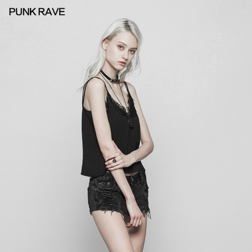 PUNK RAVE  sexy lace woman vest OPT-241