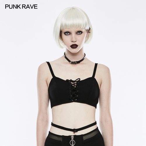 Punk Rave women black sexy bra OPT-146