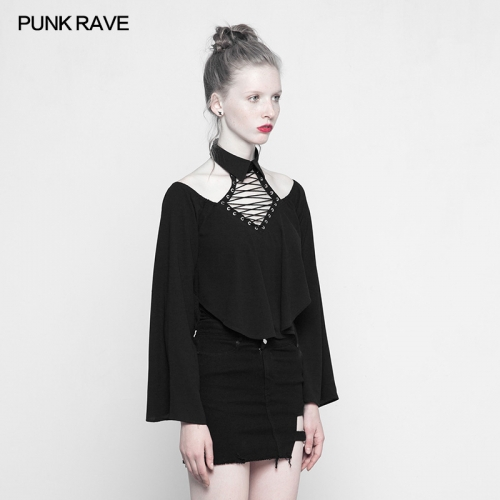 PUNK RAVE irregular sexy long T-shirt OPT-205