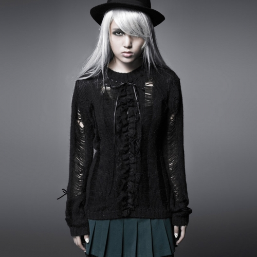 PUNK RAVE  School Uniform Broken Sweater PM-003
