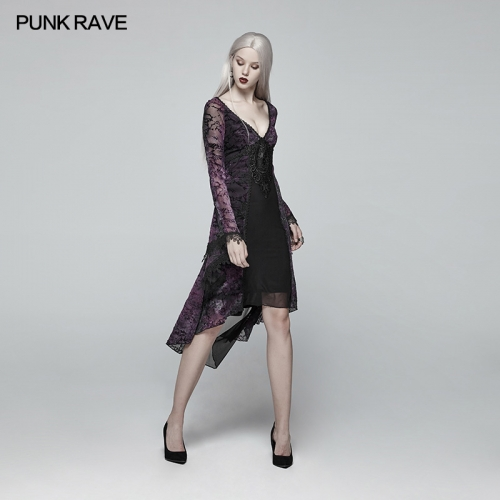 PUNK RAVE Gothic Classical Mid-length Dress OQ-388LQF