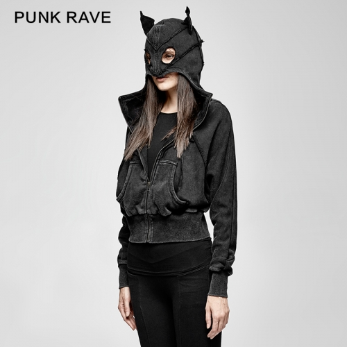 PUNK RAVE Hallowmas bat shape cotton jackets PY-208