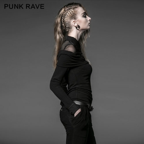 Punk Rave College Style 100% Silk T-shirts PY-050