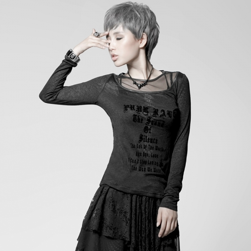 PUNK RAVE Lady long sleeve T-shirt  PT-019