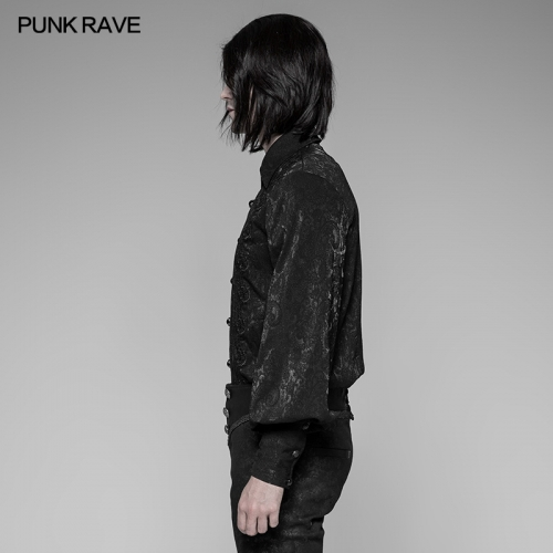 PUNK RAVE  Gothic man long sleeve shirt OY-912