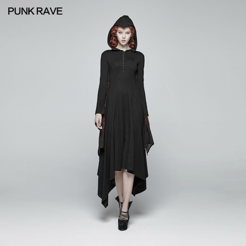 PUNK RAVE  Gothic bat wing long dress WQ-375