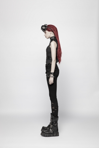 PUNK RAVE  women daily outfit trousers pants OK-344XCF