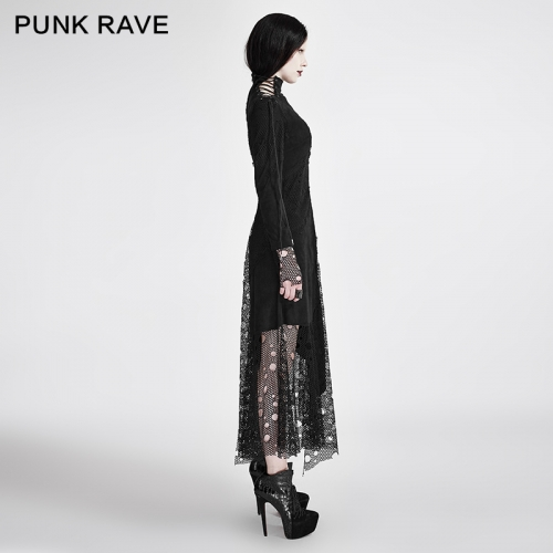 PUNK RAVE women woven black dress Q-294