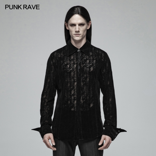 PUNK RAVE men gothic long blouse OY-1005CCM