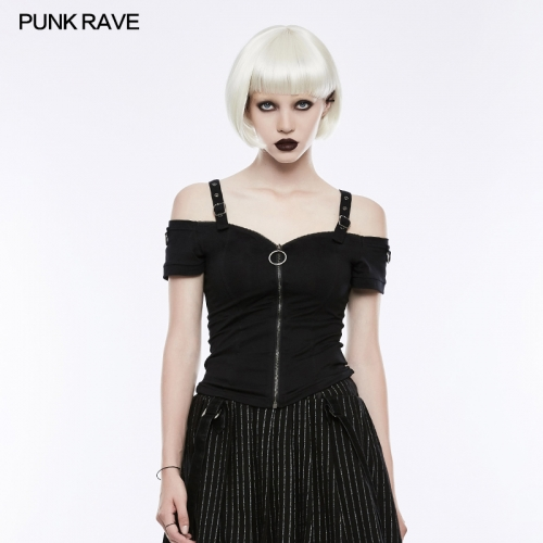 PUNK RAVE women short t-shirt OT-506TDF