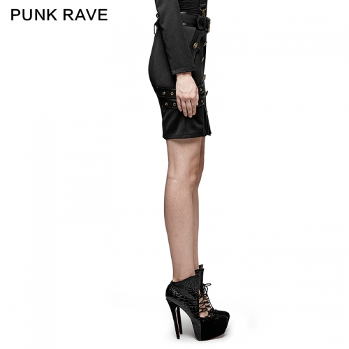 PUNK RAVE women black skirt Q-316