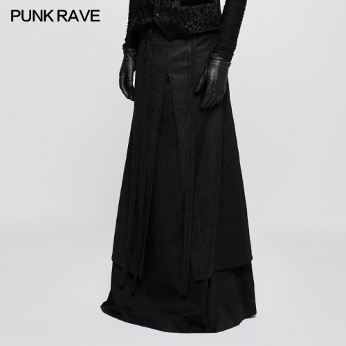 PUNK RAVE gothic men longuette skirt Q-340