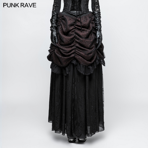 PUNK RAVE gothic women longuette skirt Q-332