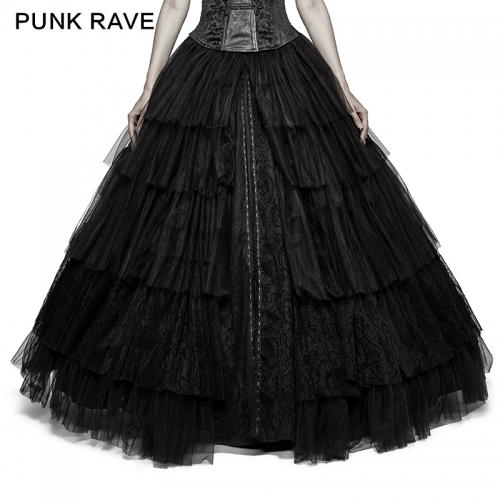 PUNK RAVE gothic women black skirt Q-317