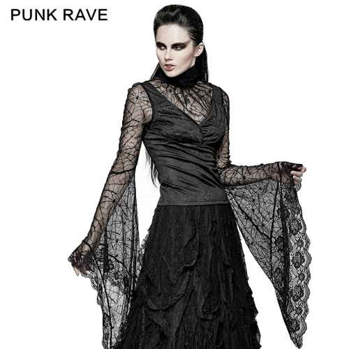PUNK RAVE gothic women long sleeved t-shirt T-449