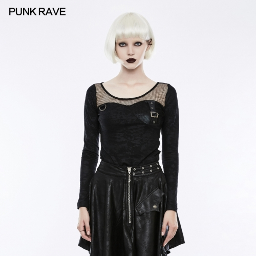 PUNK RAVE women military knit shirt WT-494TCF